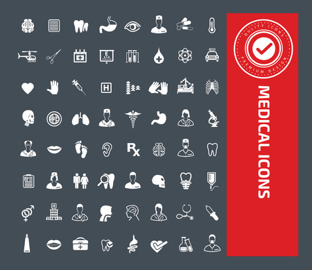 Medical icon set design,clean vector