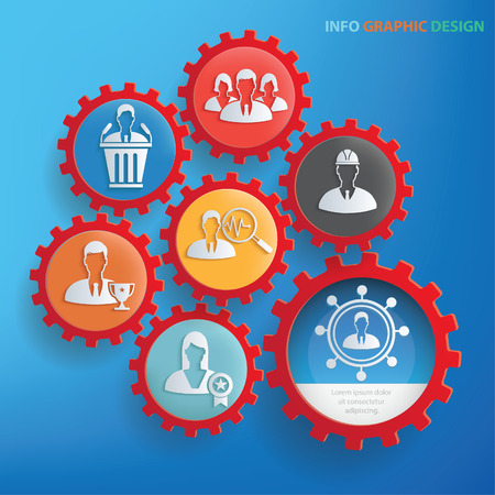 Businessman info graphics design,clean vector