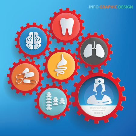 Medical info graphic design