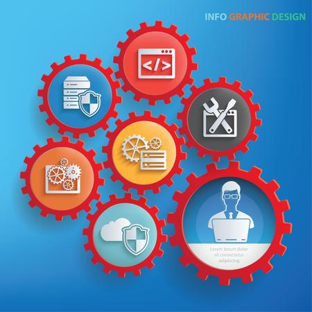 Development info graphic design,clean vector