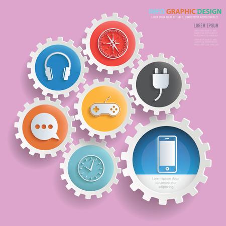 Media icons design,clean