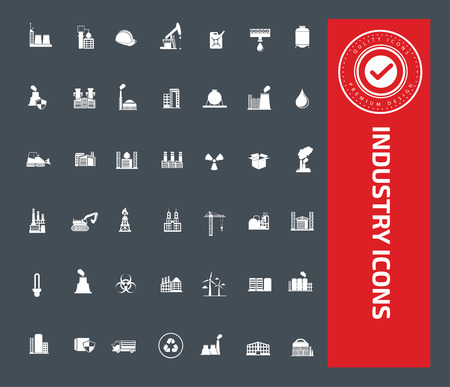 coal power station: Industry icons design,clean vector