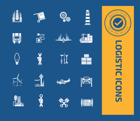 weighted: Logistic icons design,clean vector Illustration