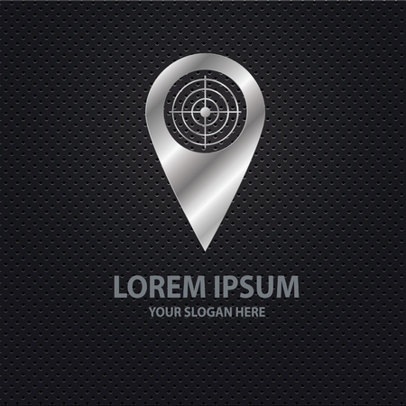 needle tip: Location point design,clean vector Illustration