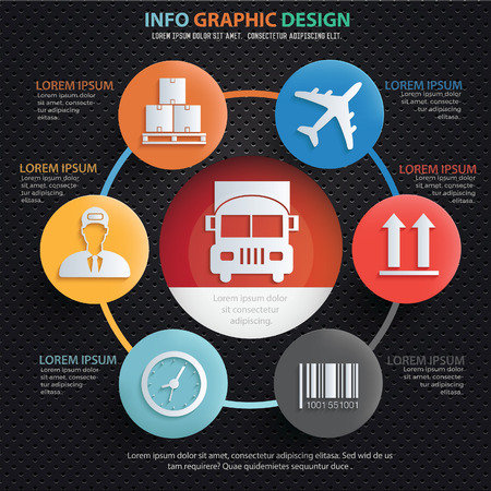 camion: Logistic infographic design,clean vector