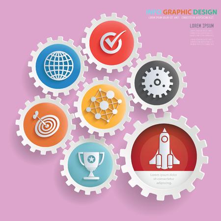 Business startup design,clean vector Illustration