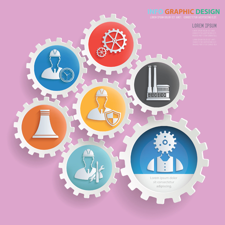 Industry and engineer design,clean vector