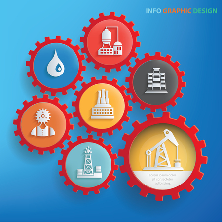 Industry design,clean vector Illustration