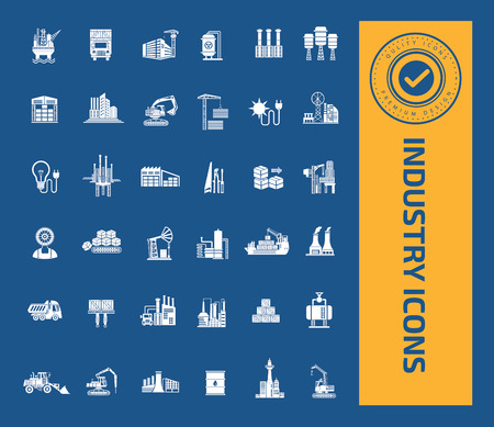 Industry icons design,clean vector