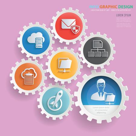 Admin design,clean vector