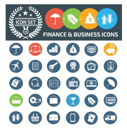 finance icon set vector concept design