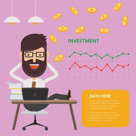 Investor concept vector design Illusztráció