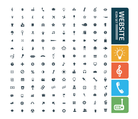 Website vector icon set design Standard-Bild - 111437654