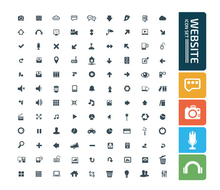 Website icon set concept design