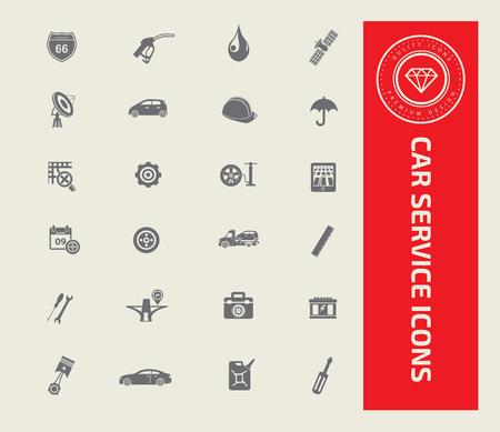 Car service icon set design,vector 向量圖像