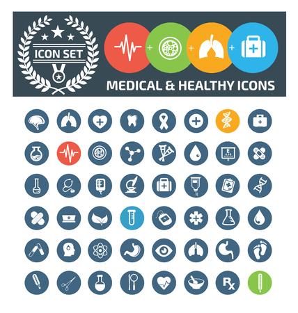 Conjunto de iconos médicos, vector Foto de archivo - 87760584
