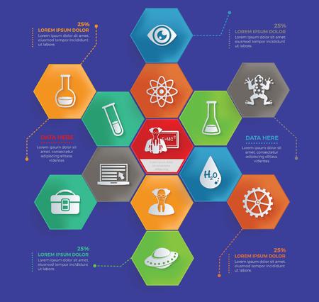 Diseño de ciencia, vector Foto de archivo - 87765727