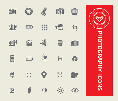 Photography icon set design,vector Illustration