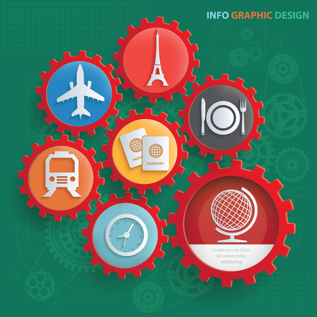 Travel icon set vector concept design
