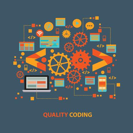 Programming coding vector concept design