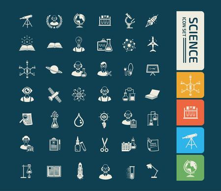 Science icon set vector design