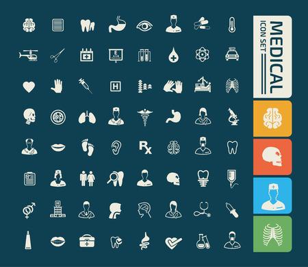 Medical icon set design