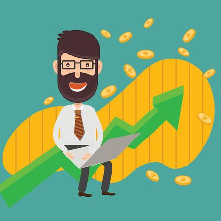 Businessman concept design Illustration
