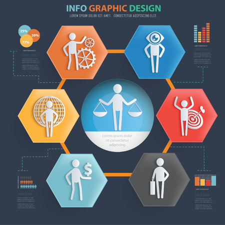 Character vector icon set info graphics