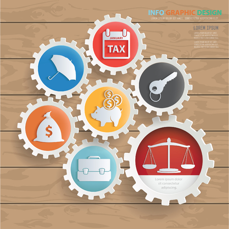 Business icon set vector concept design