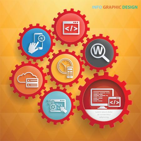 Search engine vector icon design