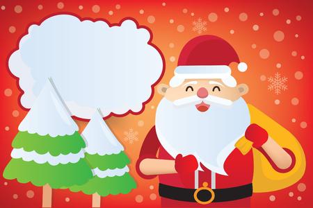 Santa clause vector design  イラスト・ベクター素材
