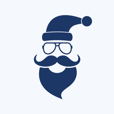 Santa christmas icon vector design