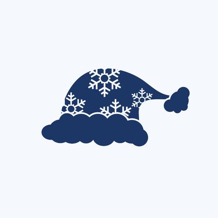 Santa hat icon vector design