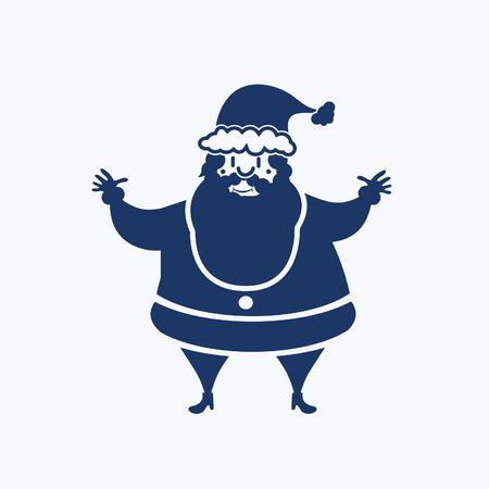 Santa clause icon vector design