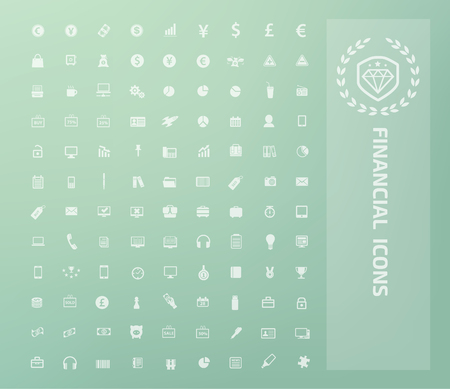 Financial icon set vector design