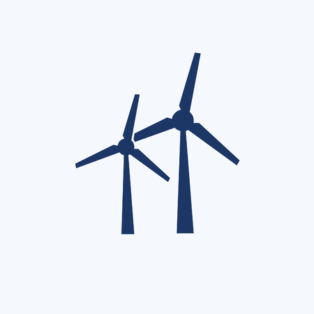 Wind turbine icon vector design Vettoriali