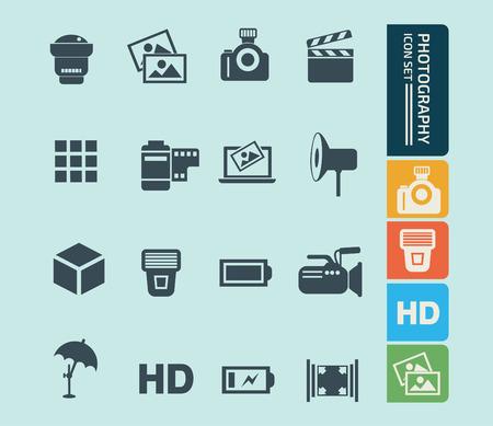 Photography vector icon set