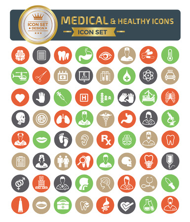 Medical icon set vector concept design Ilustracja