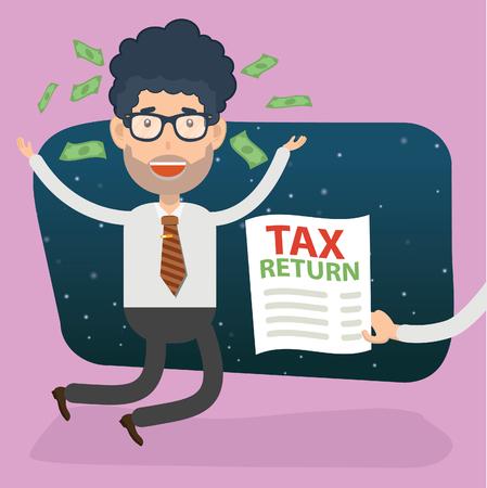 Tax Businessman vector concept design Illustration