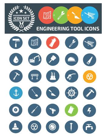 Engineer icon set vector concept design Ilustrace