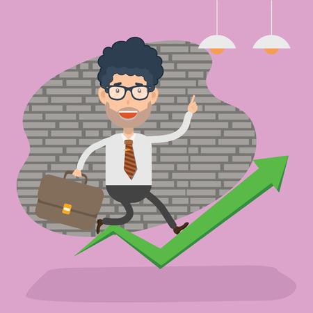 Businessman vector concept design Иллюстрация