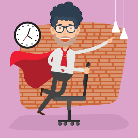 Hero Businessman vector concept design