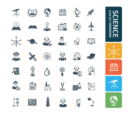 Science icon set concept vector design