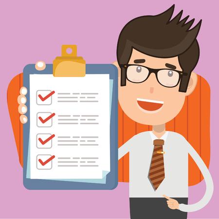 Checking Businessman vector concept design