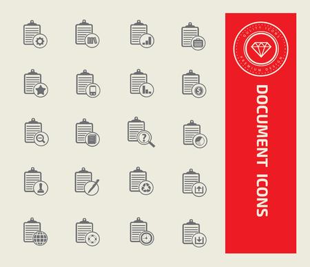 Document icon set vector concept design