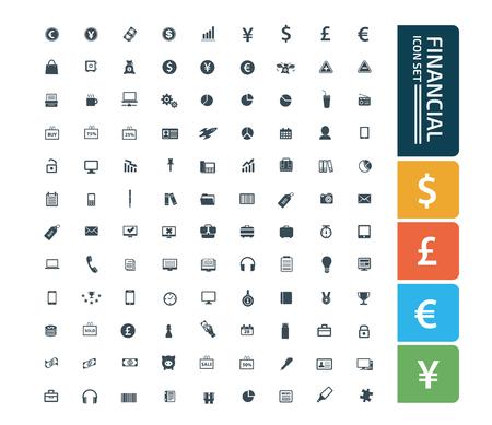 Financial icon set vector concept design