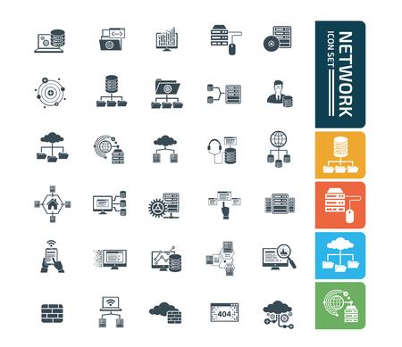 Network icon set vector concept design
