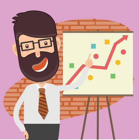 Strategy Businessman vector concept design