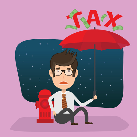 Tax businessman vector concept design