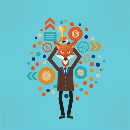 Fox Businessman concept design Banque d'images - 112688197